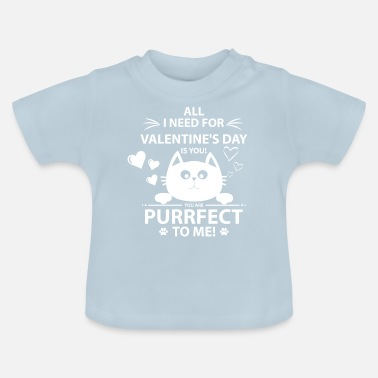 Cat Purrfect kitten Valentine's Day cute cat gift - Baby T-Shirt