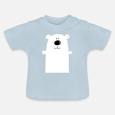 Cuddly polar bear - polar bear - bear - children - Baby T-Shirt
