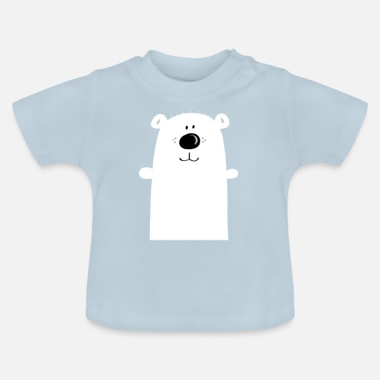 Birthday Baby Clothes - Cuddly polar bear - polar bear - bear - children - Baby T-Shirt light blue