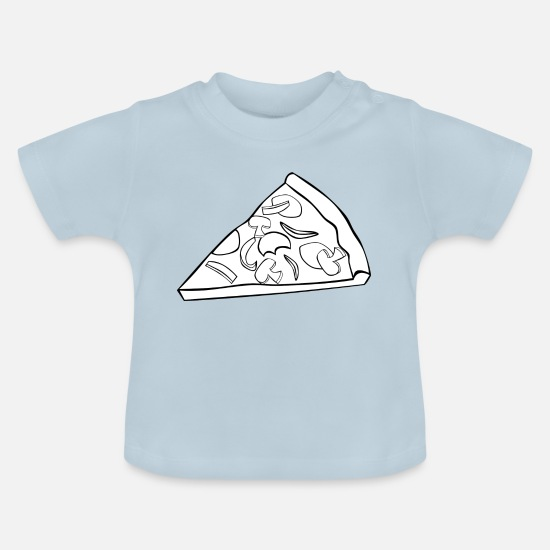 Italian Baby Clothes - pizza pizzeria food food restaurant49 - Baby T-Shirt light blue