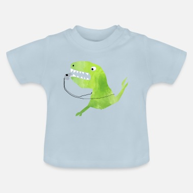 Toothless Football Dino: whistle from the referee dinosaur - Baby T-Shirt