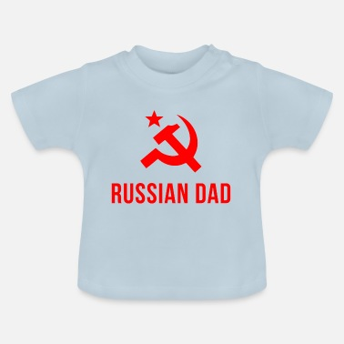 Russisk russisk pappa russisk far - Baby-T-skjorte