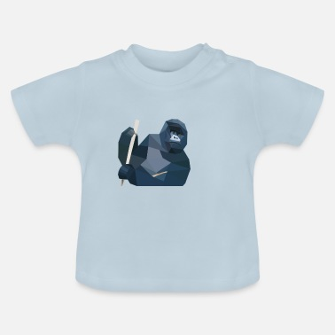 Monkey with stick - Baby T-Shirt