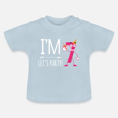 Im Seven Lets Party Seventh Birthday GiftKids Kids T Shirt