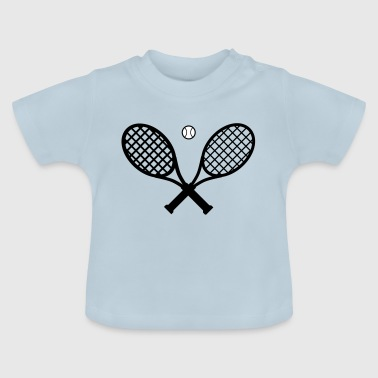 Tennis ketcher og tennisbold - Baby T-shirt