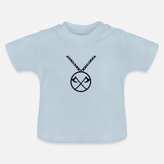 Jewelry Baby Clothes - Ax chain - Baby T-Shirt light blue