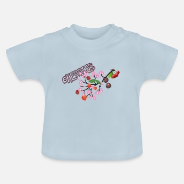 Cherry Cherries. Cherries with cherry blossoms. - Baby T-Shirt