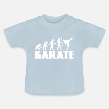 Karate Martial Arts Evolution Fighter Sport Athlete - Baby T-Shirt