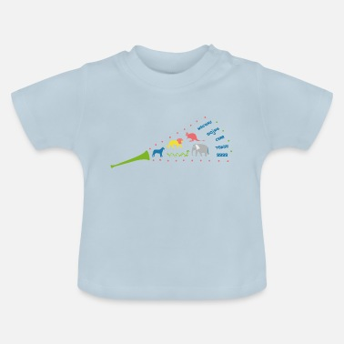 Sound Clothing Trumpet with animal sounds on children's clothing - Baby T-Shirt