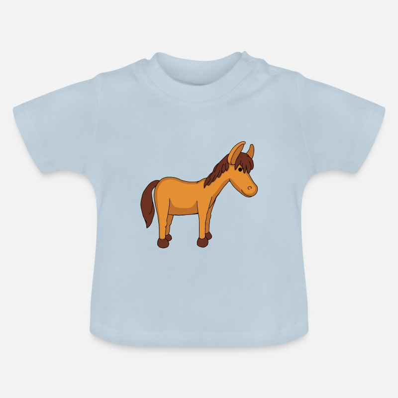 Mare Baby Clothes - pony - Baby T-Shirt light blue