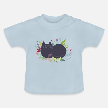 Dogs Cat in the Flowergarden - Baby T-Shirt