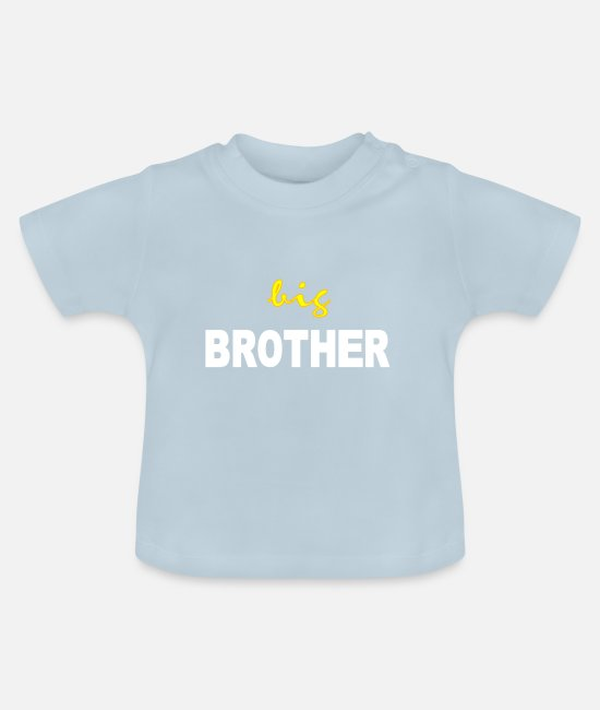 Big Brother Baby Clothes - big brother - Baby T-Shirt light blue