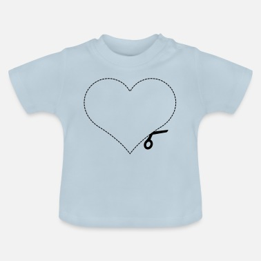 Cut Out Heart cut out love - Baby T-Shirt