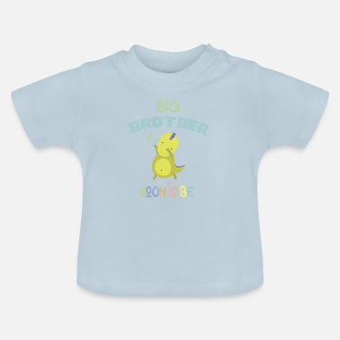 Pregnancy Announcement Big Brother DinoDab - Baby T-Shirt