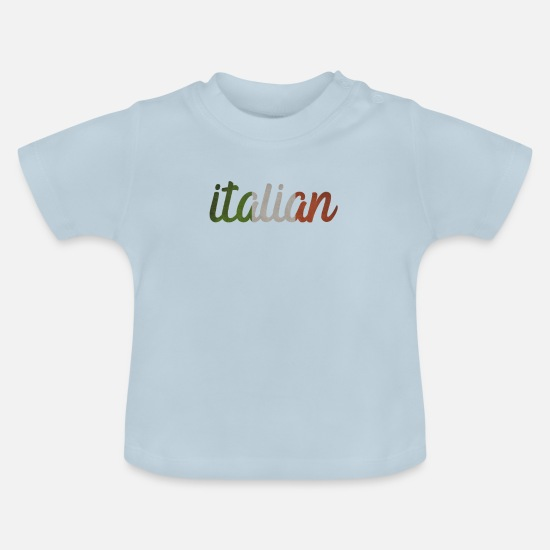 Pizza Baby Clothes - Italian Italy Italia T-shirt souvenir - Baby T-Shirt light blue