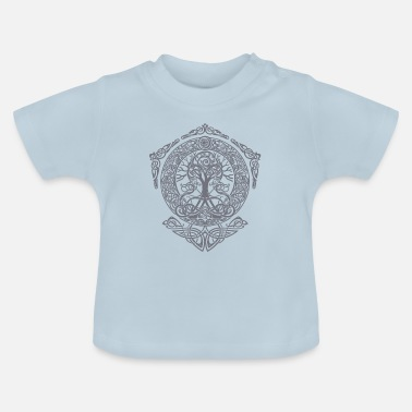 Nordisk Livets træ - Yggdrasil World Tree World aske Thor - Baby T-shirt