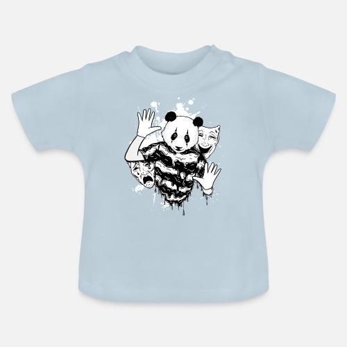 Máscara de panda - rapero - diseño de teatro Camiseta bebé  096addd6b87