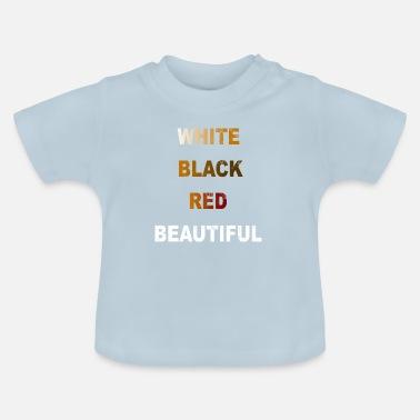 c3f9b471b8e8e Antiracismo Anti racismo blanco negro regalo rojo - Camiseta bebé