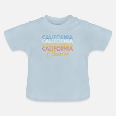 Californië Klassieke retro vintage T-shirt-cadeau in Californië - Baby T-shirt