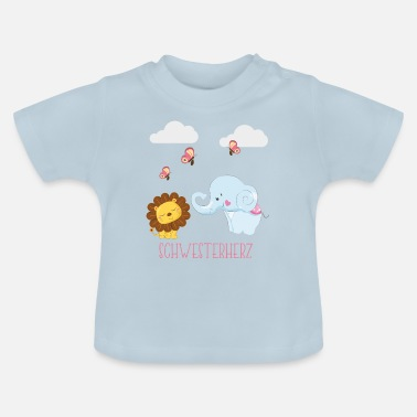 Big Little Sister Heart Little Big Big Sister Shirt - Koszulka niemowlęca