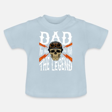 Molonas Dad The Man The Myth The Legend Gift Motorcycle - Camiseta bebé
