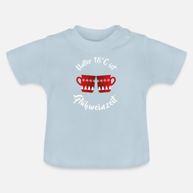 Funny mulled wine saying christmas market gift - Baby T-Shirt