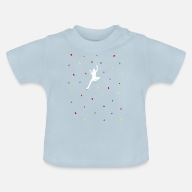 Wall Boulder wall woman - Baby T-Shirt