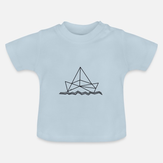 Sealife Baby Clothes - Paper boat - paper boat - origami - Baby T-Shirt light blue
