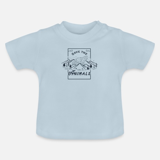 Nature Conservation Baby Clothes - Save the animals - Baby T-Shirt light blue