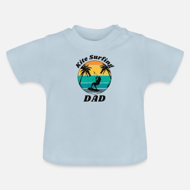 Kite Surfers Cool retro vintage windsurfer outfit for dad - Baby T-Shirt