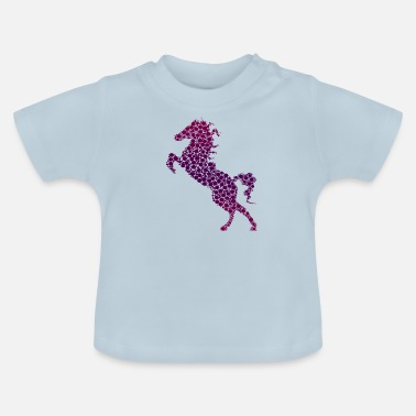 Springconcours Springconcours, draf, wild paard, - Baby T-shirt