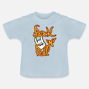 Rock N Roll Rock n roll met duivelspersonages - Baby T-shirt