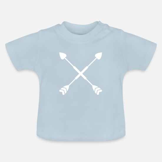Shape Baby Clothes - Heart decoration - Baby T-Shirt light blue