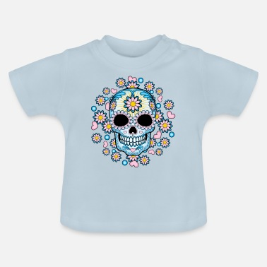 Skull Colorful Sugar Skull - Baby T-Shirt