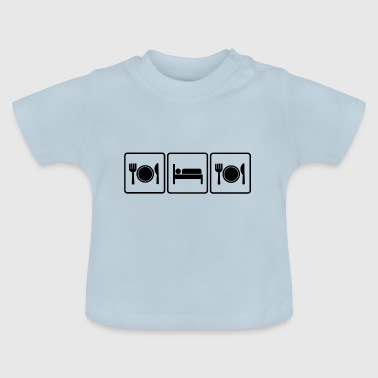 Eat Sleep Eat: Eating Sleep Eating (Dark) - Baby T-Shirt