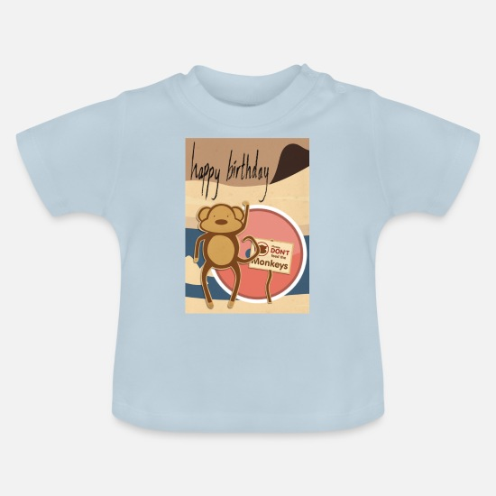 Monkey Baby Clothes - Monkey collection - Baby T-Shirt light blue