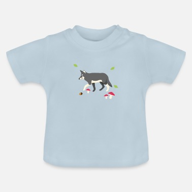 Kinder Waldtier, Wolf, Kind - Baby T-Shirt