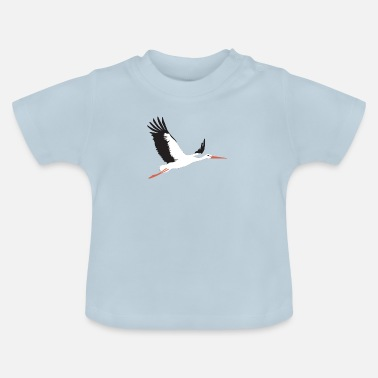 Storch Storch fliegt - Baby T-Shirt