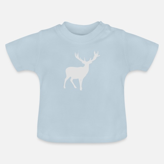 Hunter Baby Clothes - Deer hunting antlers hunter deer hunting - Baby T-Shirt light blue