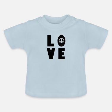 Woodstock Peace love Musik Hippie woodstock - Baby T-Shirt