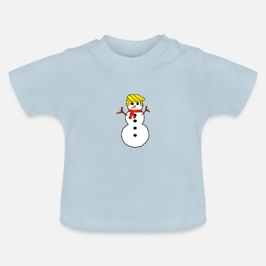 Snowman with yellow hair - Baby T-Shirt
