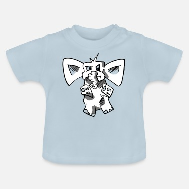 Topper Coole design olifant - Baby T-shirt
