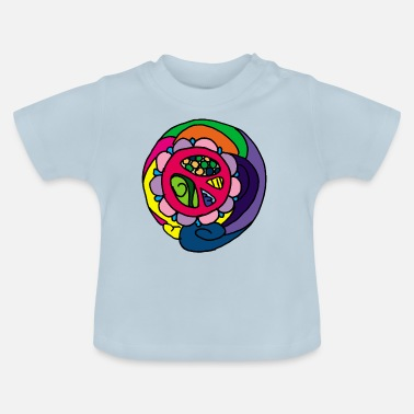Anti Psychedelic Peace Peace Symbol Flower Power - Baby T-Shirt