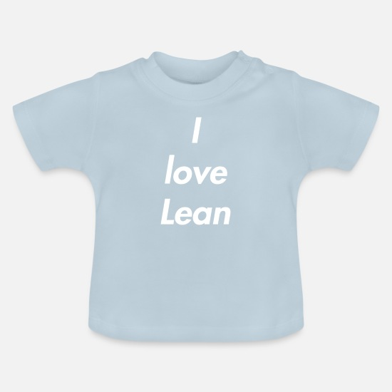 Love Baby Clothes - I love Lean - Baby T-Shirt light blue