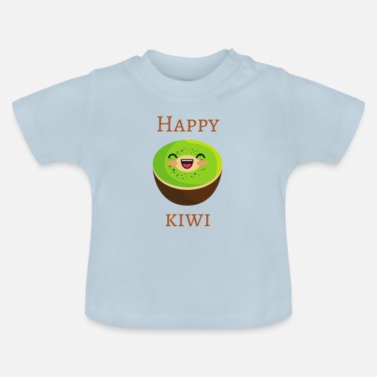 Kiwi heureux conception drôle nourriture fruits T-shirt Bébé