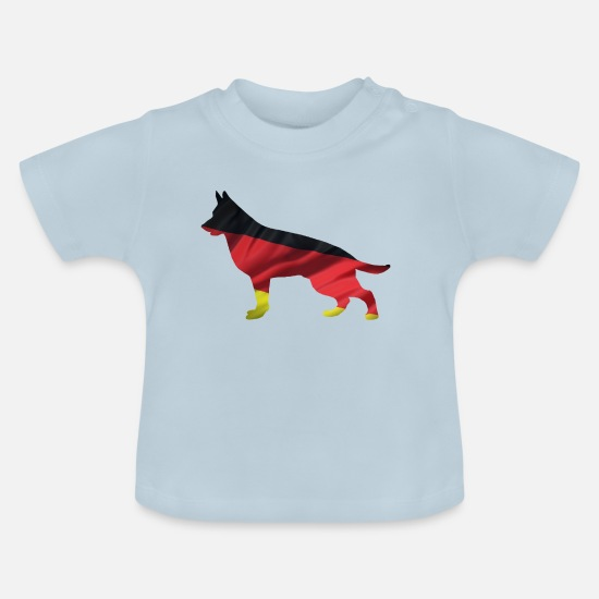German Shepherd Baby Clothes - German Shepherd - German Shepherd - German Flag - Baby T-Shirt light blue