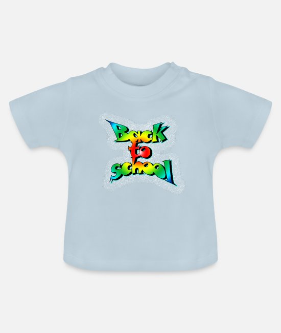 Schule Baby T-Shirts - Old school back to school - Baby T-Shirt Hellblau