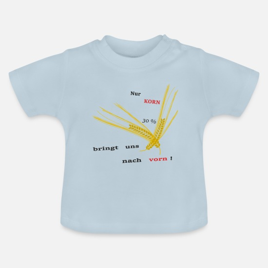 Kornkreise Baby Clothes - GRAIN - Baby T-Shirt light blue