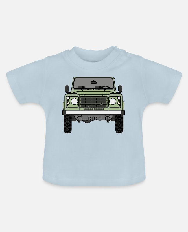 Rover Baby T-Shirts - Verteidiger - Front - Baby T-Shirt Hellblau