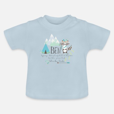 Benjamin Ben name with meaning name shirt Benjamin boy - Baby T-Shirt